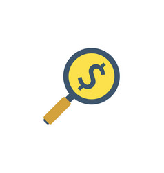 investment search icon vector image vector image