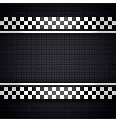Structured metallic perforated for race sheet gray vector image vector image