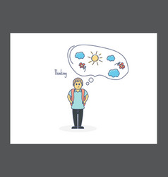 thinking icon vector image