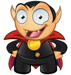 Vampire Mascot Hands On Hips vector image vector image