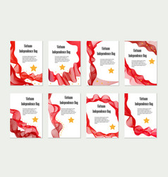 vietnam independence day set of templates vector image
