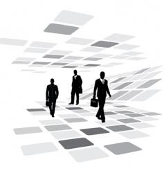 walking business people vector image