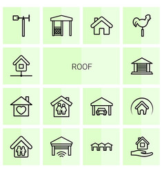 14 roof icons vector