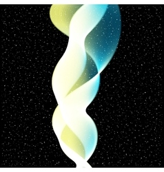 Abstract Wave on stars background vector image