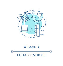 Air quality blue concept icon vector
