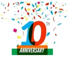 Anniversary design 10th icon vector