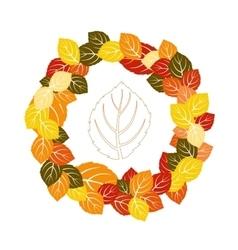 Autumn balckground vector image vector image