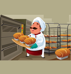 Baker in the kitchen vector