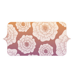 banner with floral design vector image