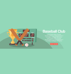 baseball club banner flyer vector image