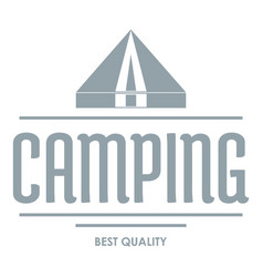best camping logo vintage style vector image