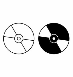 black and white cds vector image