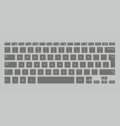 black computer keyboard vector image