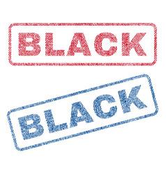 Black textile stamps vector