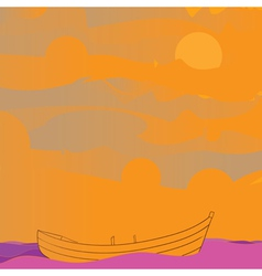 boat and sky vector image