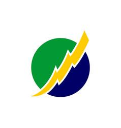 brazilian electricity logo design eps 10 vector image