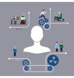 Business office teamwork vector