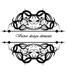 Calligraphic inscriptions frame vector