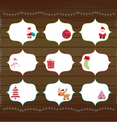 Christmas printables vector