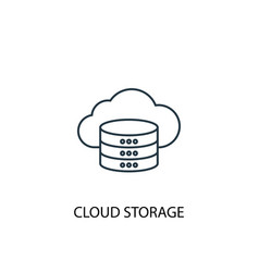 cloud storage concept line icon simple element vector image