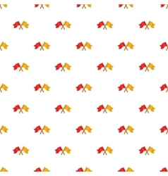 Croosed flags pattern cartoon style vector