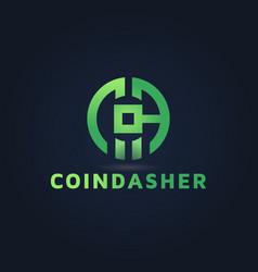 Crypto bit coin logo design inspiration vector