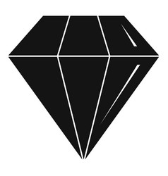 diamond stone icon simple style vector image