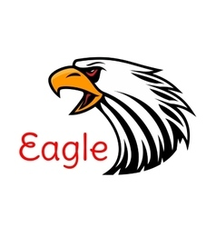 Eagle emblem Crying hawk icon vector