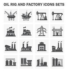 Factory icon vector