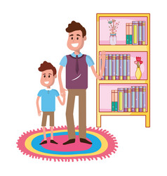Father with son design vector