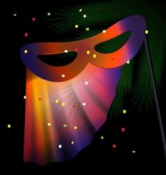 festive half mask vector image