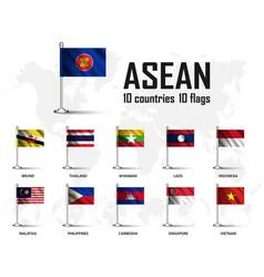 Flag asean association southeast asian vector