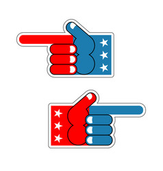 foam finger usa patriot american hand symbol vector image
