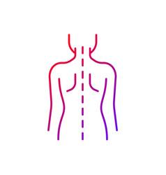Good posture gradient linear icon vector