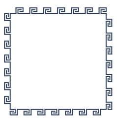 Greek decorative frame for design minimal style vector image