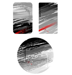 grunge cards vector image