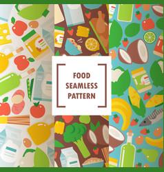 healthy organic food seamless pattern vector image