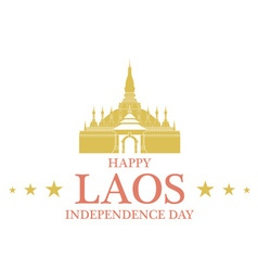 Independence Day Laos vector image