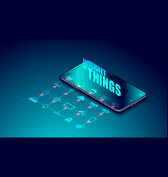 Iot internet things on smartphone applications vector