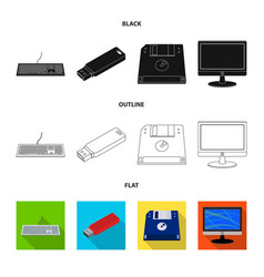 laptop and device icon vector image