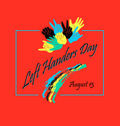 Left handers day stylish concept vector