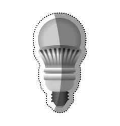 Light bulb electric led vector