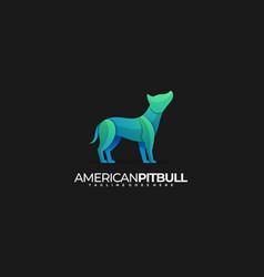 Logo american pit bull gradient colorful vector