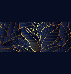 Luxury gold leaf and natural background vector
