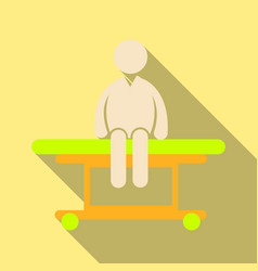 man is sitting on a medical couch isolated vector image