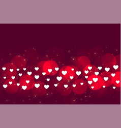 Many small hearts on bokeh background design vector