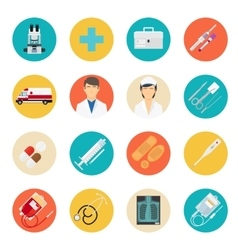 Medical tools and health care icons vector