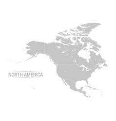 north america grey map vector image