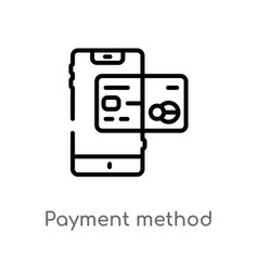 Outline payment method icon isolated black simple vector