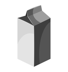 Packaging for milk icon gray monochrome style vector image